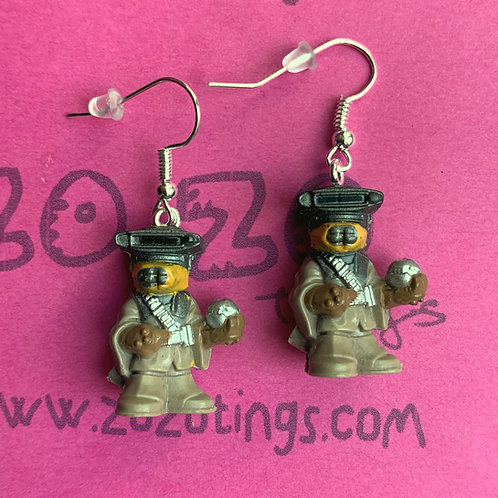 Star Wars Boushh Bounty Hunter Fighter Pod Earrings