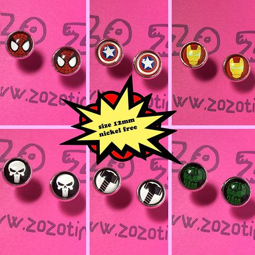 Marvel Symbols Stud Earrings