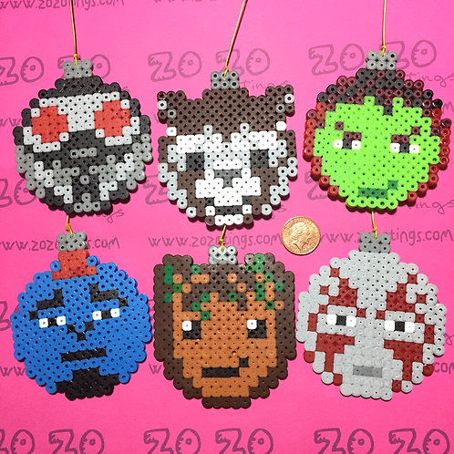 Guardians of the Galaxy Pixel Baubles