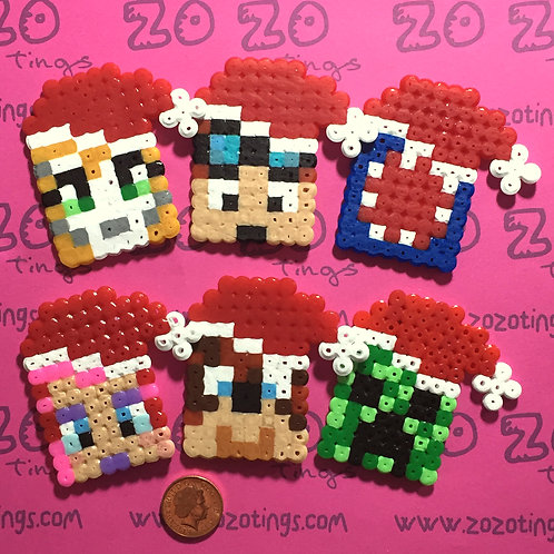 Minecraft All-stars Christmas Pixel Set