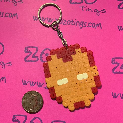 Iron Man Pixel Keyring