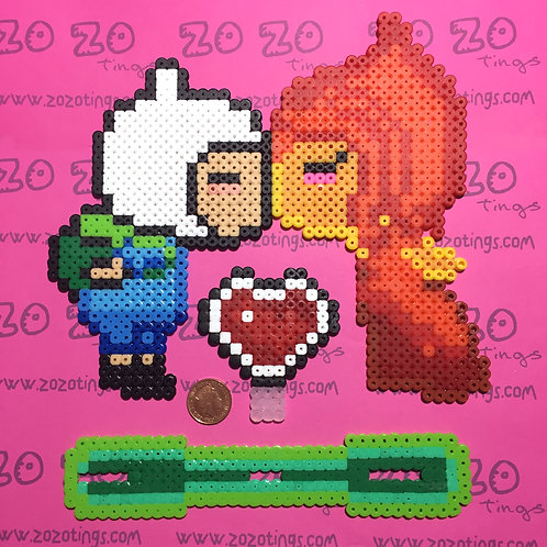 Adventure Time Pixel Wedding Cake Topper
