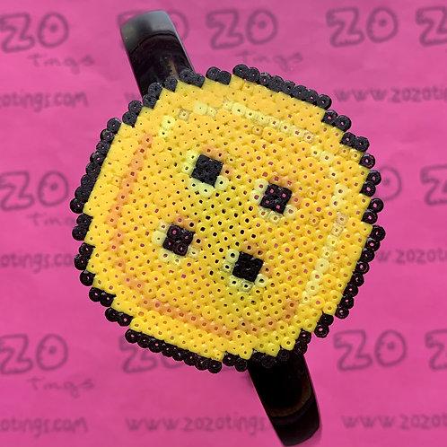 Button Moon Pixel Headband