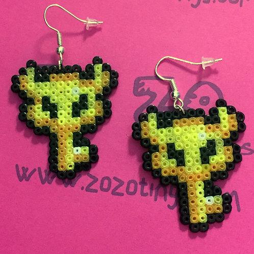 Zelda Boss Key Pixel Earrings