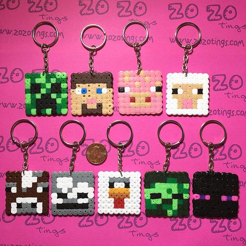 Minecraft Pixel Keyrings