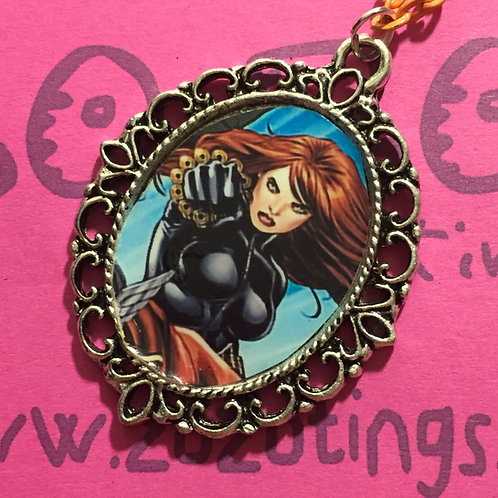 Black Widow Vintage Pendant