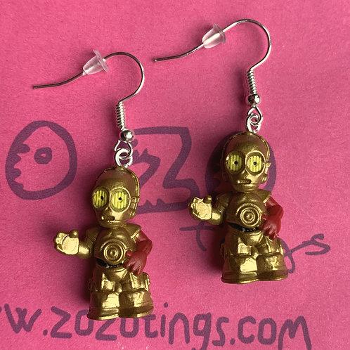 Star Wars C-3PO Red Arm Fighter Pod Earrings