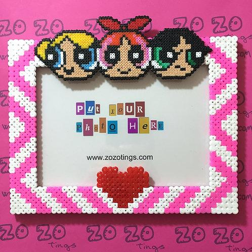 The Powerpuff Girls Pixel Photo Frame