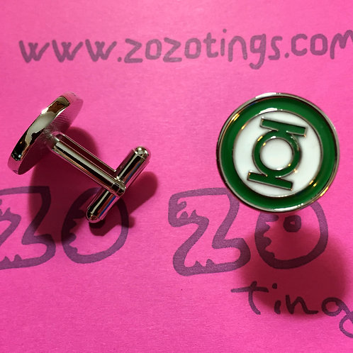 Green Lantern Metal Cufflinks