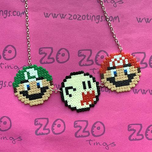 Mario Pixel Necklace