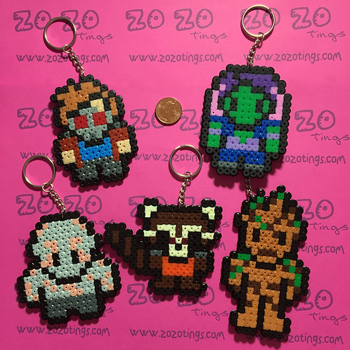 Guardians of the Galaxy Pixel Keyrings