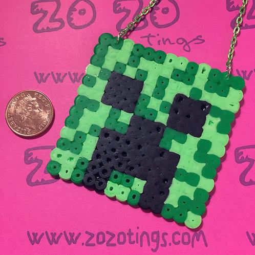 Minecraft Creeper Pixel Necklace