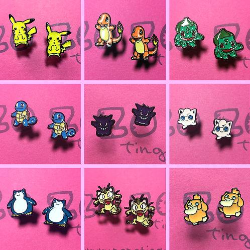 Pokemon Metal Stud Earrings