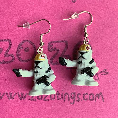 Star Wars Clone Trooper Pilot Fighter Pod Earrings