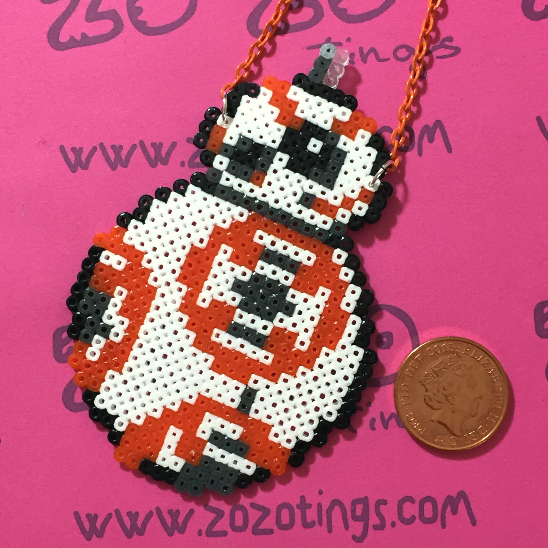Star Wars Bb 8 Pixel Necklace