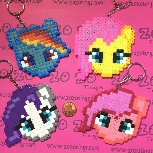 My Little Pony Pixel Keyrings