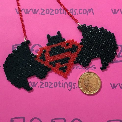 Batman Vs. Superman Pixel Necklace