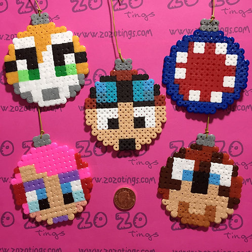 Minecraft All-stars Christmas Pixel Baubles