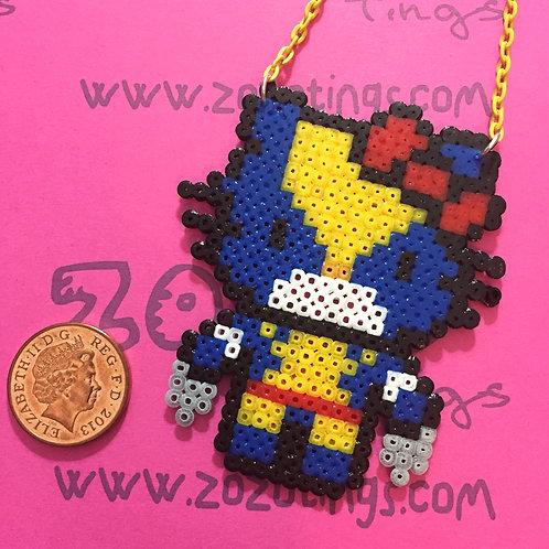 Wolverine Kitty Pixel Necklace