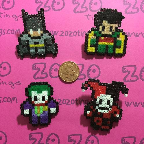 Batman Pixel Badges