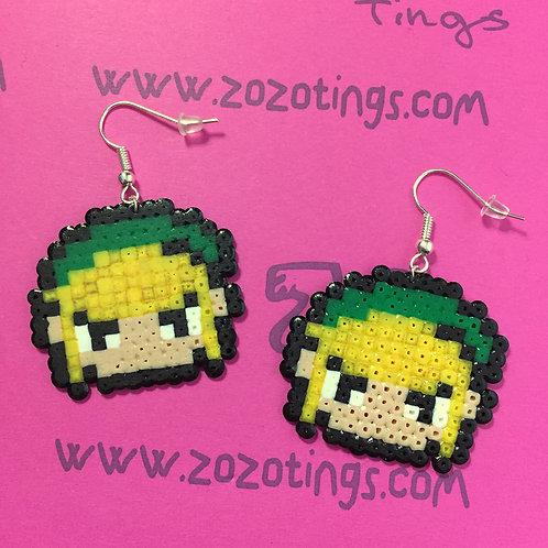 Zelda 'Link' Pixel Earrings
