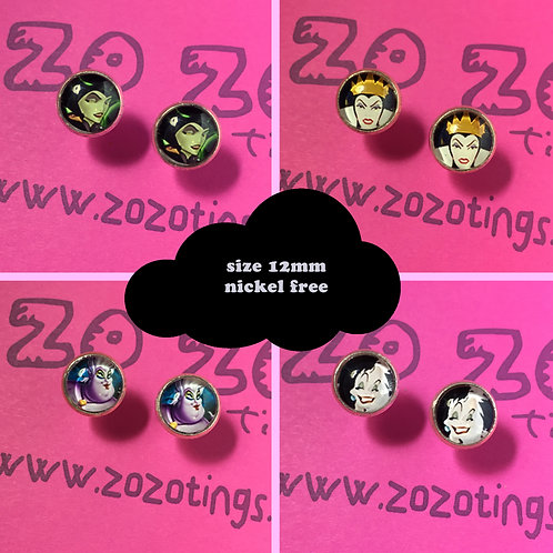 Disney Villains Stud Earrings