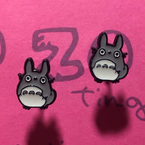 Totoro Metal Stud Earrings