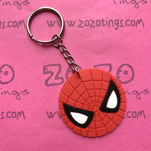 Spider-Man Rubber Charm Keyring