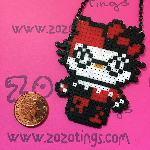 Harley Quinn Kitty Pixel Necklace