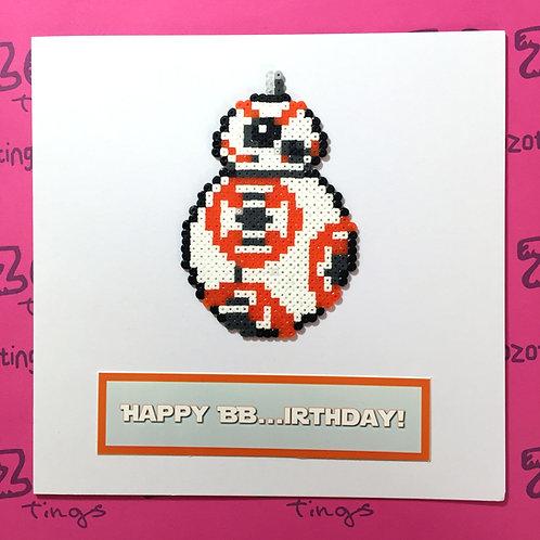 Star Wars BB-8 Birthday Card