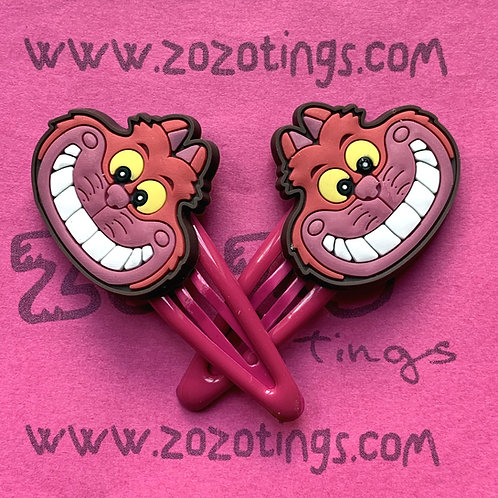 Cheshire Cat Snap Hair Clips