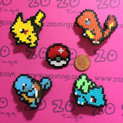 Pokemon Set 1 Pixel Badges