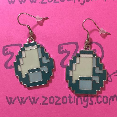 Minecraft Diamond Metal Earrings