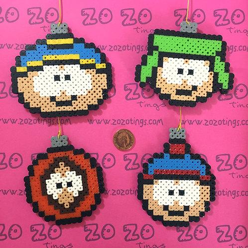 South Park Pixel Baubles