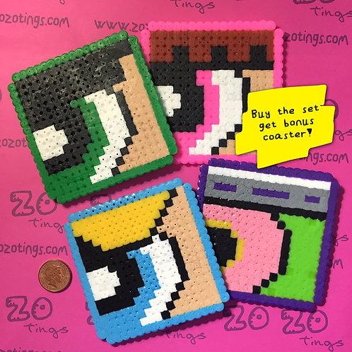The Powerpuff Girls Pixel Coasters