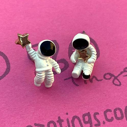 Life On Mars Metal Stud Earrings