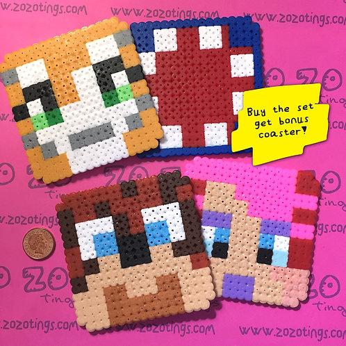 Minecraft All-stars Pixel Coasters