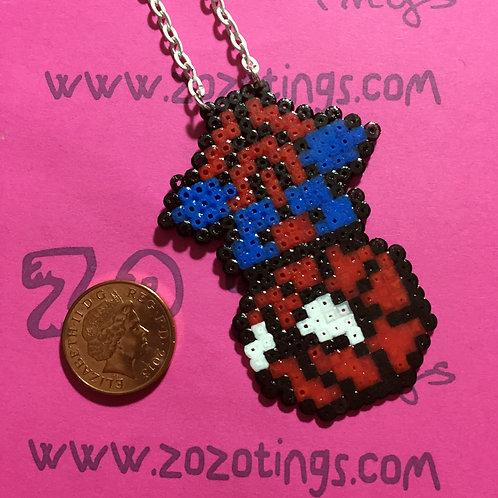 Spider-Man Pixel Necklace