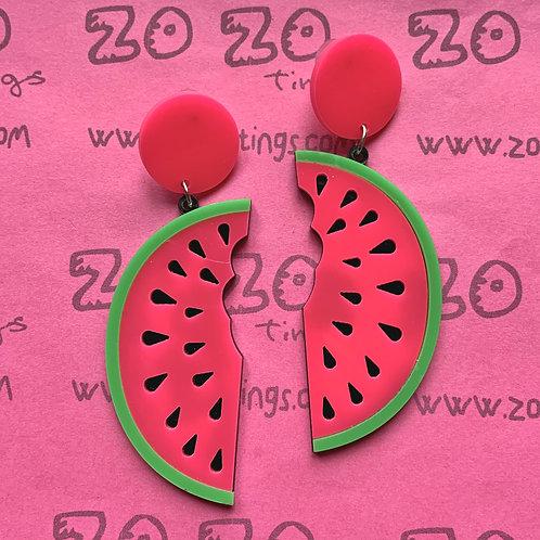Delicious Watermelon Stud Earrings