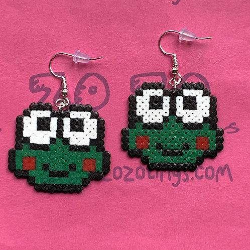 Cute Frog Pixel Earrings