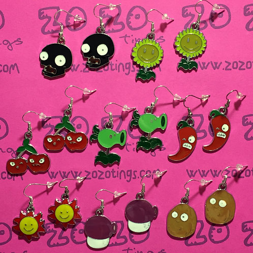 Plants vs. Zombies Metal Earrings