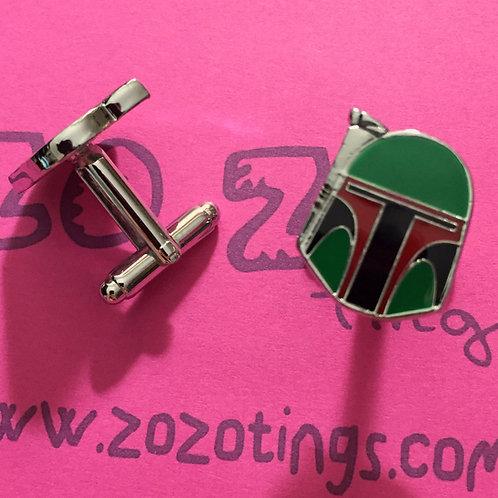 Star Wars Boba Fett Metal Cufflinks