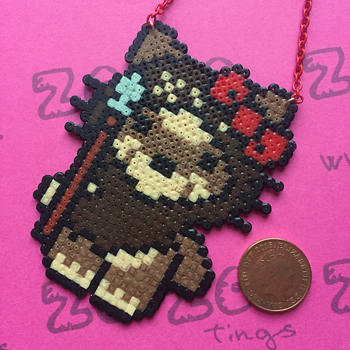 Star Wars Ewok Kitty Pixel Necklace