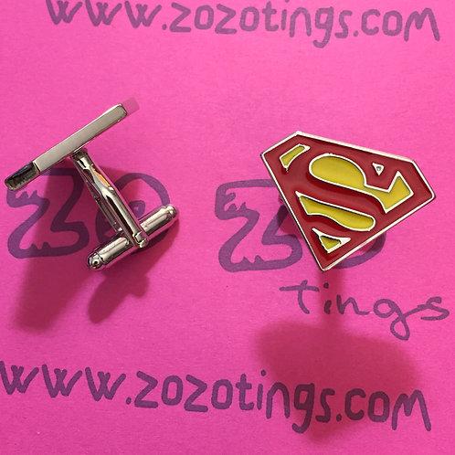 Superman Shield Metal Cufflinks