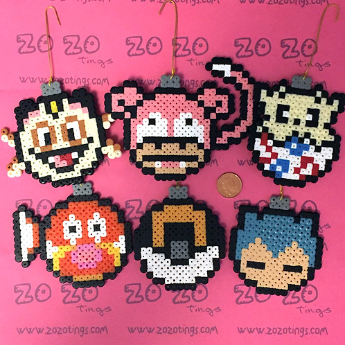 Pokemon Set 4 Christmas Pixel Baubles