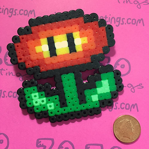 Mario Fire Flower Pixel Hair Bow