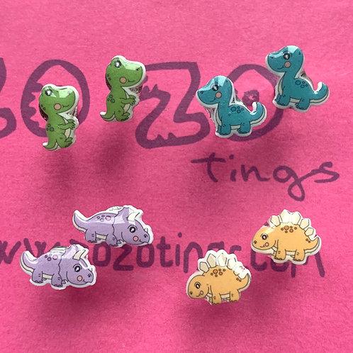 Roooaaaarsome Dinosaur Stud Earrings