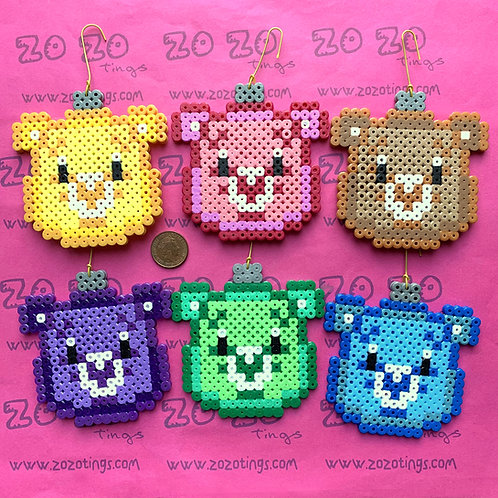 Care Bear Christmas Pixel Baubles