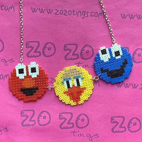 Sesame Street Pixel Necklace