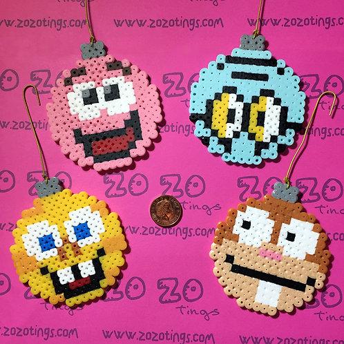 SpongeBob Christmas Pixel Baubles